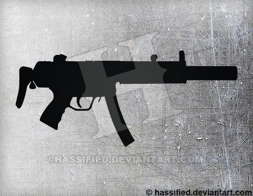 MP5SD - printable, vector, svg, art