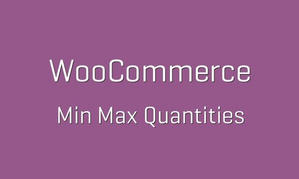 WooCommerce Min Max Quantities 2.4.1 Extension