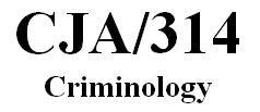 CJA 314 Week 1 Individual Paper - Crime Data Comparison Paper