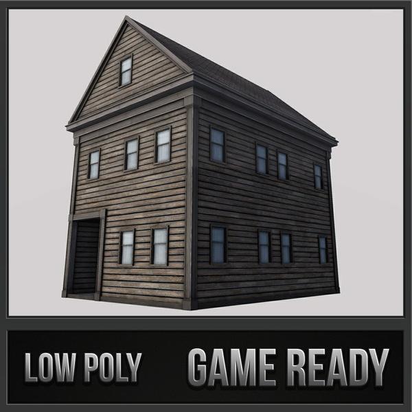 Boston House 02 | 3D Low Poly Model