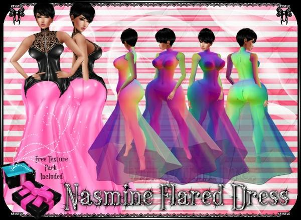 💎 Nasmine Flared Dress Mesh