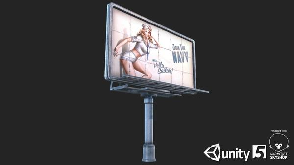 Big Steel Billboards | 3D Low Poly Models
