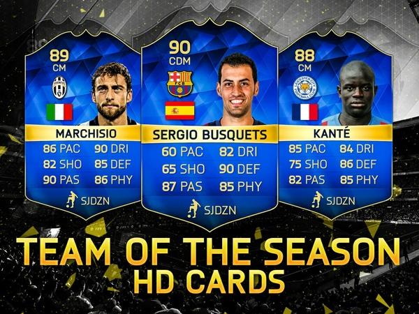 FIFA 16 MOST CONSISTENT TOTS HD CARDS