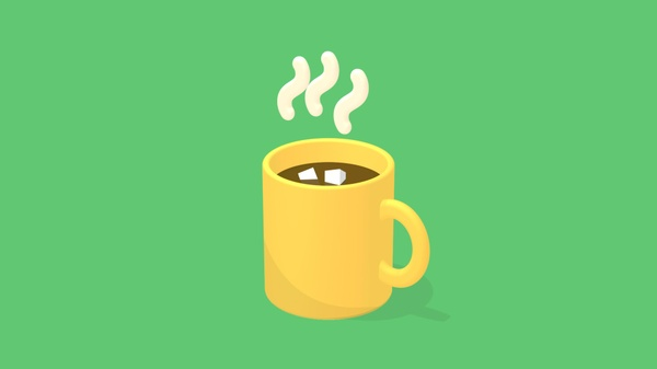 3D animated Tea Coffee Mug for After Effects Made with cinema 4d renderer