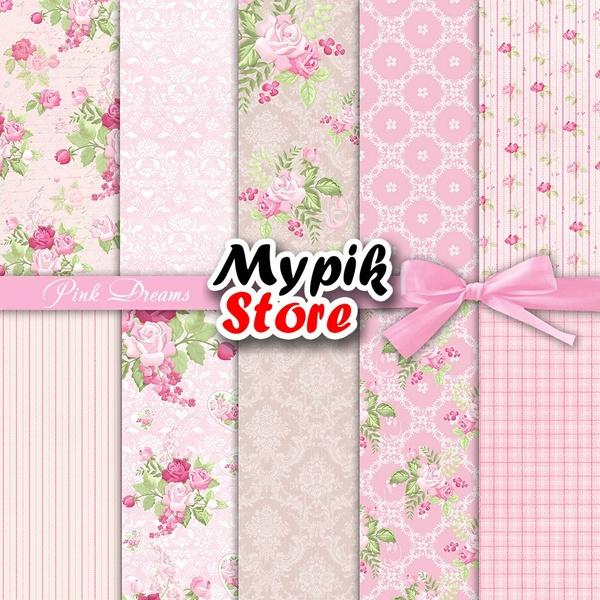 Digital Papers Pink Dreams
