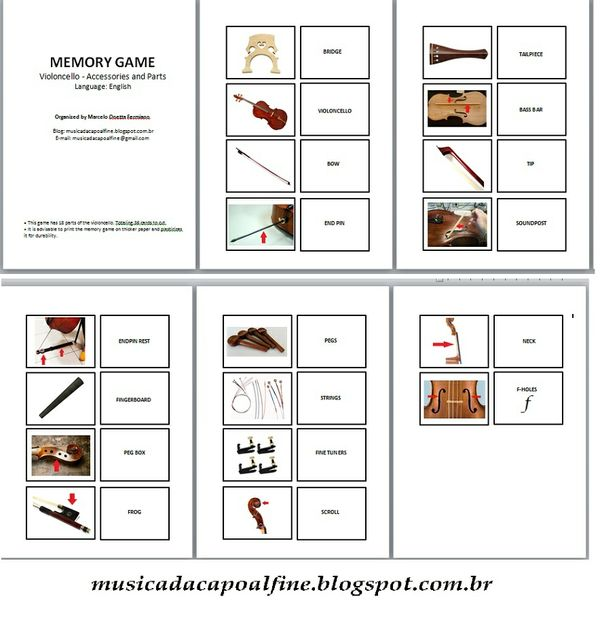 MEMORY GAME - Violoncello - Accessories and Parts (ENGLISH) download