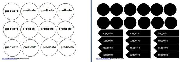 Analisi logica Montessori simboli, tavola e tabella A3 bianco e nero