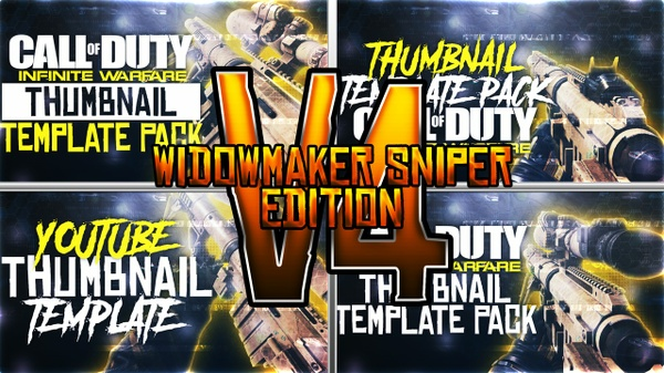 Infinite Warfare - Widowmaker Sniper Rifle Edition - Thumbnail Template Pack V4 - Photoshop