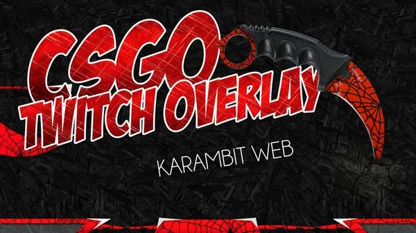 CSGO twitch stream overlay - Karambit web Theme