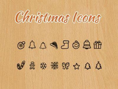 Christmas Icons -  Hand Drawn