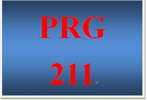PRG 211 Entire Course