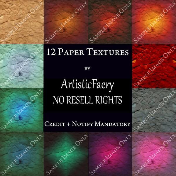 12 Paper Textures for Digital Art