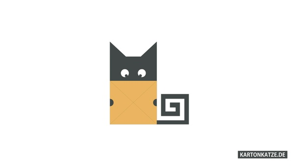 "Desktop Wallpaper ""Cardboard Cat"" - 1920 x 1080 - kartonkatze.de"