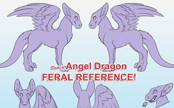Dutch Angel Dragon Feral Reference Sheet