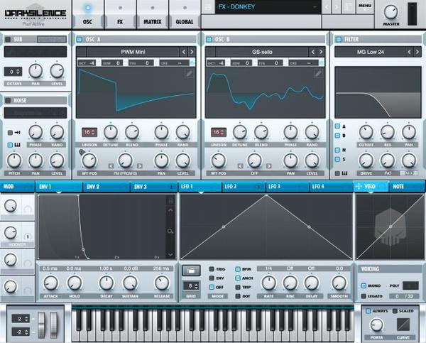 Dark Silence Sound Design ALPHA V1 BLUE XFER SERUM SKIN