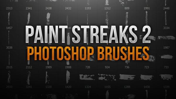 Paint Streak 2 Photoshop Brush Pack