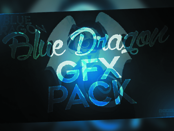 BLUE DRAGON GFX PACK | ShaphiRaDesigner
