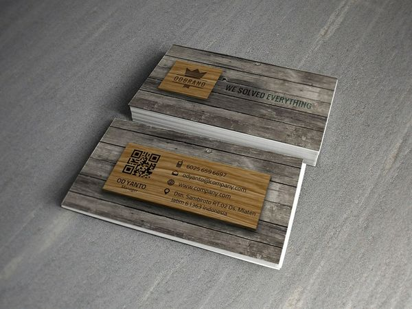 Business Card Wood Style Vol#02