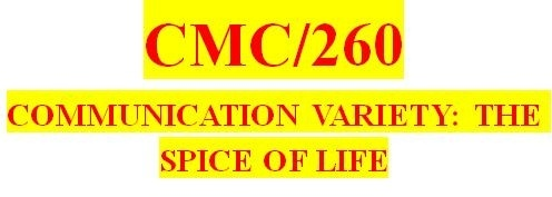 CMC 260 Week 2 Outline for Guidebook Sections One and Two
