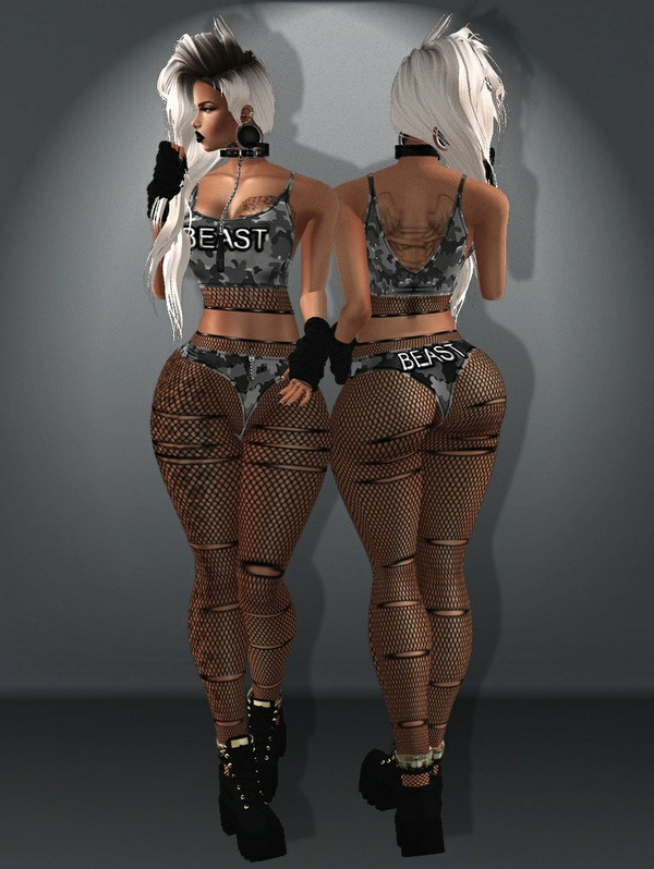 .:Beast Top and Pantie:.