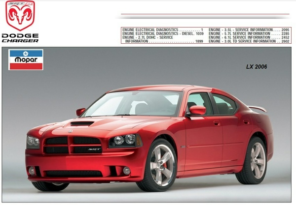 DODGE CHARGER LX 2006 FACTORY SERVICE MANUAL