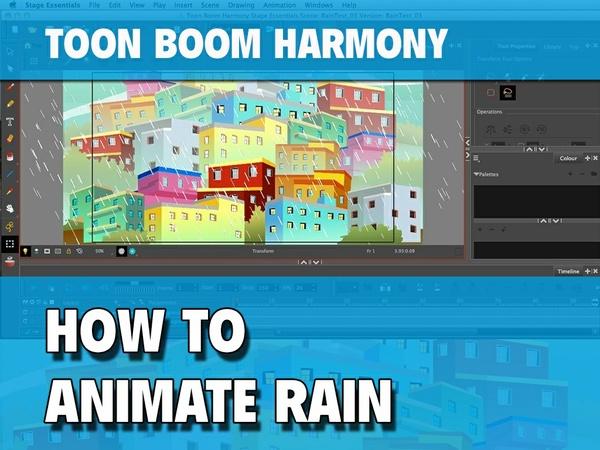 How to Animate Rain in Toon Boom Harmony 12