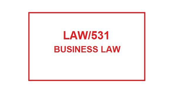 LAW 531 Week 5 Knowledge Check