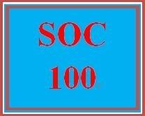 SOC 100 Week 2 Social Structure Matrix