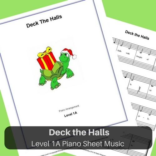 Deck the Halls Level 1A piano