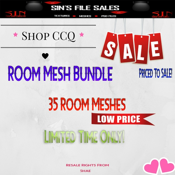 35 Room Meshes Limited Time Only!