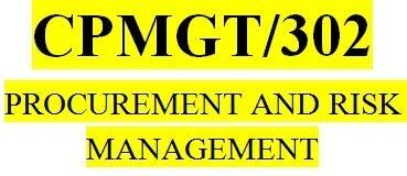 CPMGT 302 Week 3 Risk Management Paper