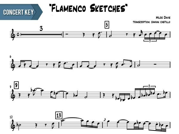 "Miles Davis - ""Flamenco Sketcches"" - Concert Key"