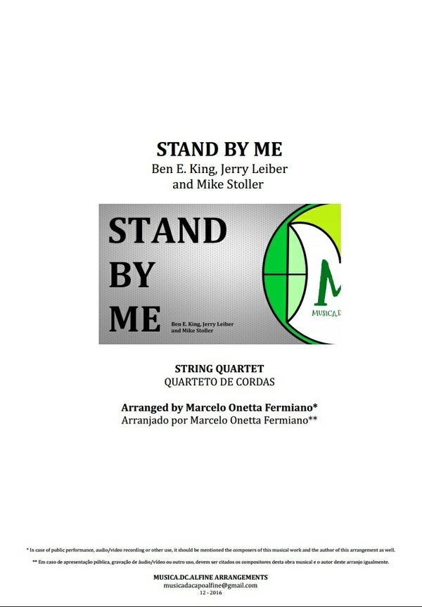 Stand By Me | Ben E. King | String Quartet | Score Download