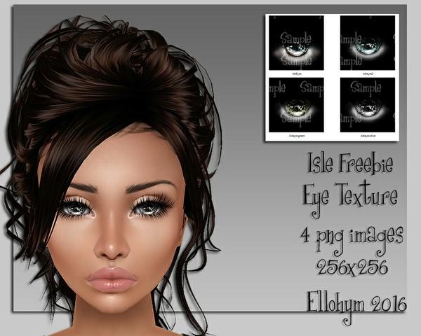 Ellohym - Freebie Isle Eye Textures - 4 .png images