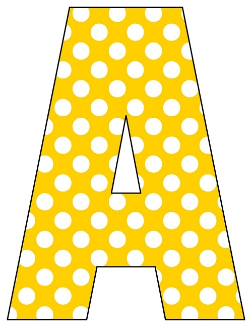 Polka Dot Bubble Letters  Classroom Polka dots and Letters
