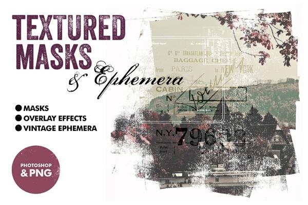 Textured Masks & Ephemera