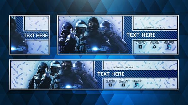 Social Media Revamp Pack V6 - Rainbow Six: Siege GIGN Edition - Photoshop Template