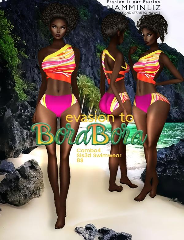 Evasion to Bora Bora combo4 Sis3d swimwear imvu NAMMINLIZ