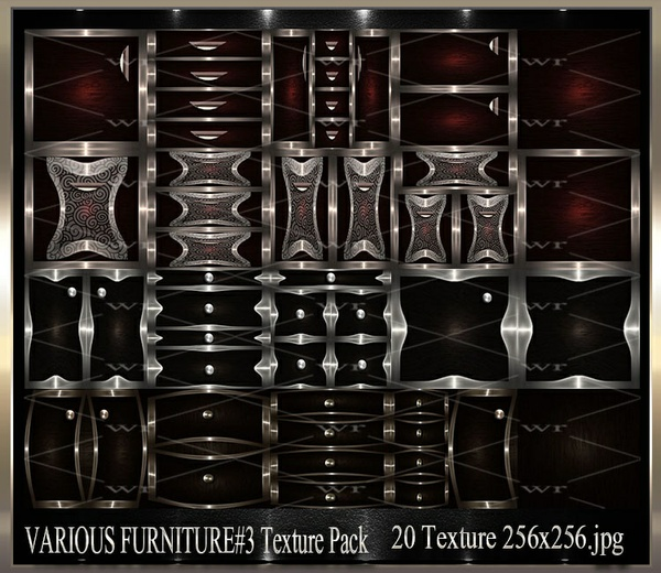 ~ VARIOUS FURNITURE DOORS #3 IMVU TEXTURE PACK ~
