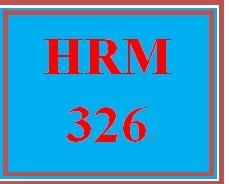 HRM 326 Week 1 Needs Assessment