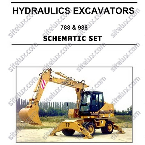 Case 788, 788 Plus, 988, 988 Plus Crawler and Wheeled Hydraulics Excavators Schematic Set