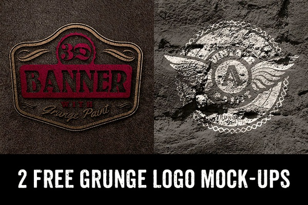 2 Grunge Logo/Text Mock-ups