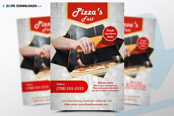 Pizza Fast Flyer Template