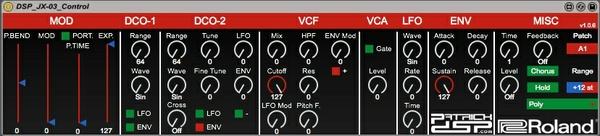 DSP Roland JX-03 Control v1.0.6