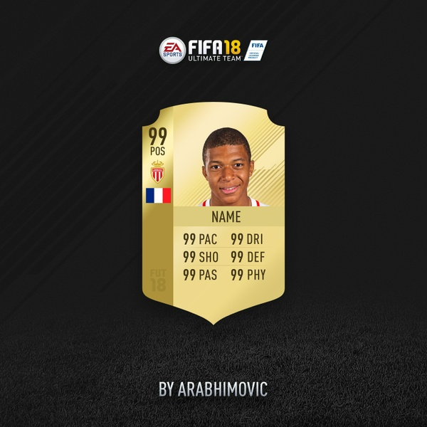 FIFA 18 HD RARE GOLD CARD