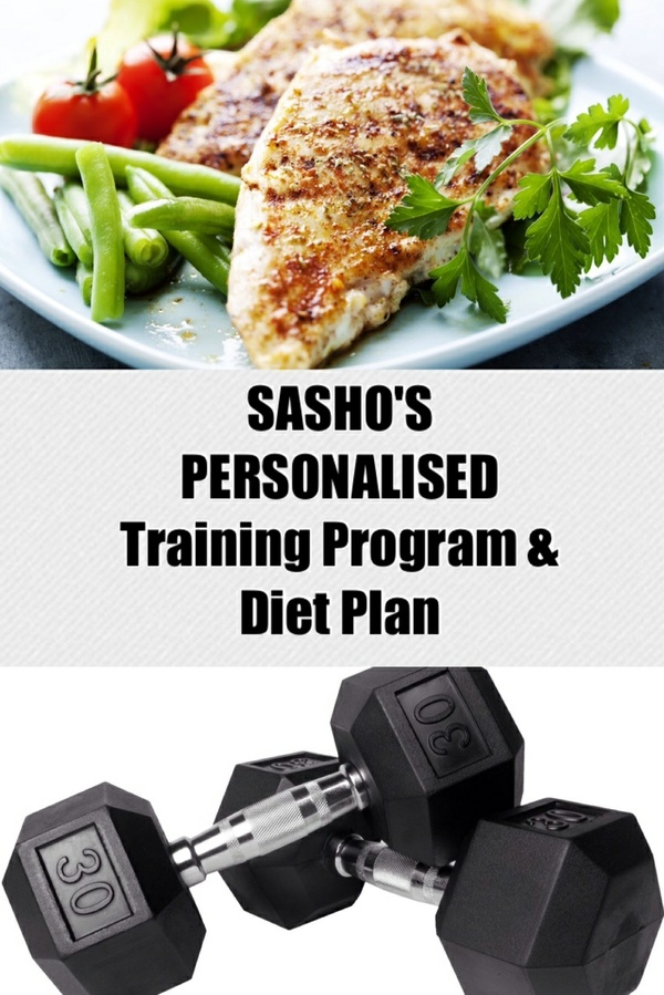 SASHO'S PERSONALISED Training Program & Diet Plan