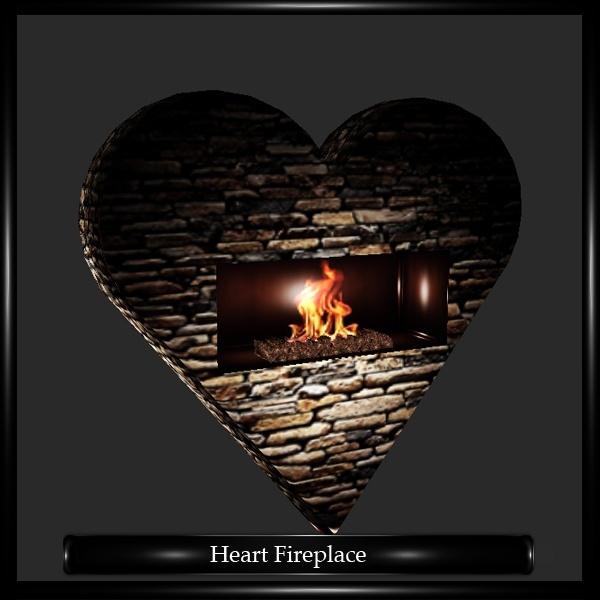 Heart Fireplace Mesh