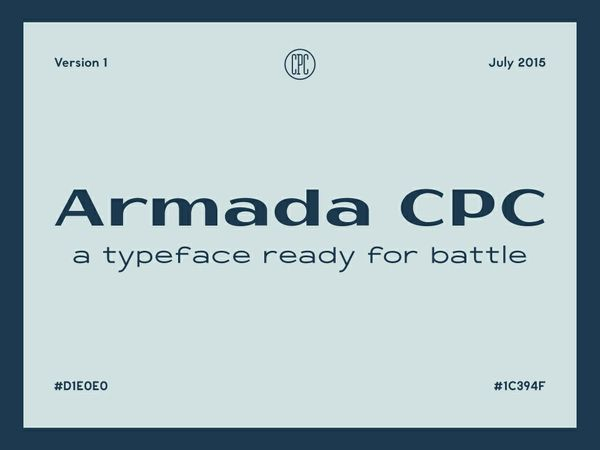 Armada CPC - A typeface ready for battle