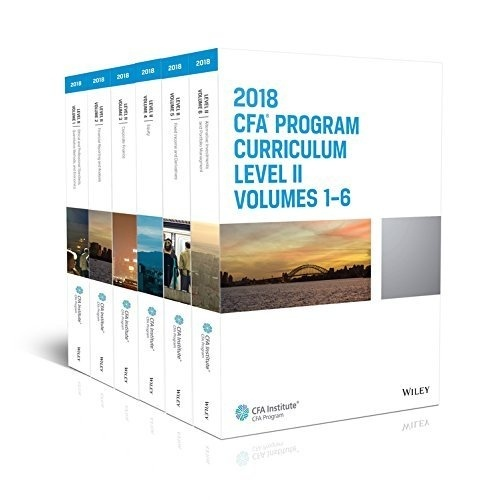 CFA Program Curriculum 2018 Level II Volumes 1-6 Set Box ( AZW3 , Kindle Format 8 ) Instant download