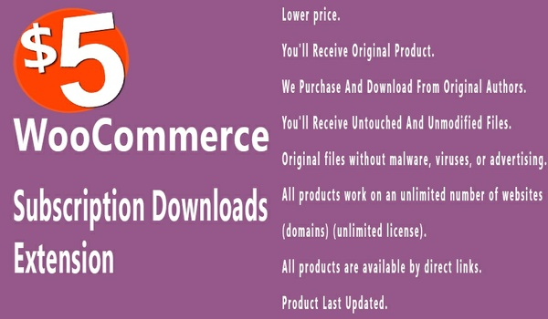 WooCommerce Subscription Downloads 1.1.15 Extension